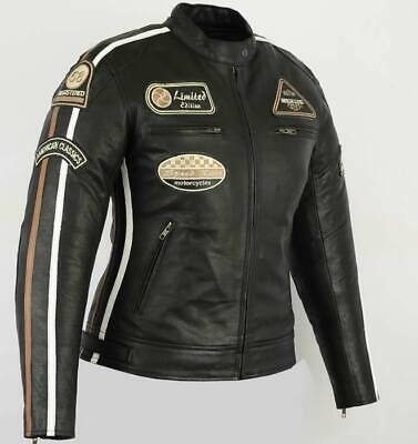 Veste En Cuir Moto Femme, Vintage, Cafe Racer, Leather Jacket, Blouson, Rocker