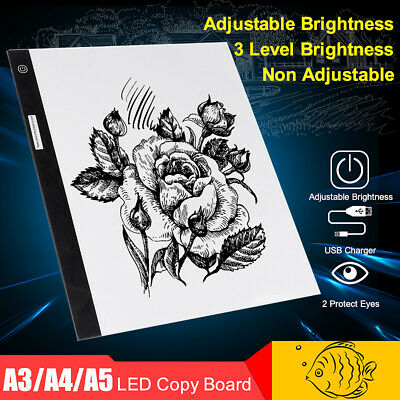 A3 A4 A5 LED Light Box Tracing Drawing Board Art Design Pad Copy Lightbox AU