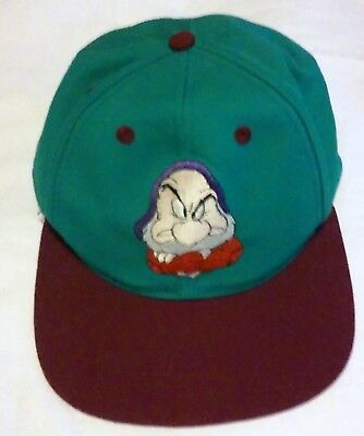 c3f278c0c1d Disney s GRUMPY Snapback Hat -Cap- YOUTH-Vintage-Snow White and the Seven