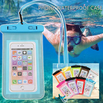 Underwater Waterproof Case Cover Bag Dry Pouch For All Smart Mobile Phones