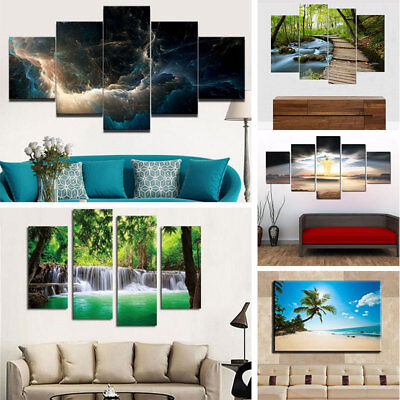 5Pcs/lot Abstract Landscape Canvas Wall Art Painted Oil Painting Home Decor
