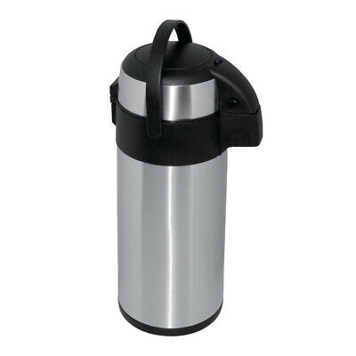Airpot 5L Insulated Vacuum Flask Pump Top Olympia Hot & Cold Drinks Portable
