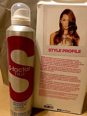 Tigi S-factor Vivacious Hairspray with Magnificent Hold & Shine All Day - 8.9oz