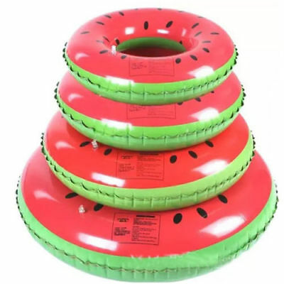 Watermelon Swim Ring Swimming Pool Toy Inflatable Kids Adults Floating Fun 120cm