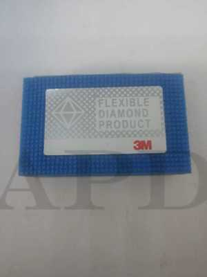 "3M 81895 2-1/4"" X 3-3/4"" M10 6200J Flexible Diamond Hand Lap Micron (1 Each)"