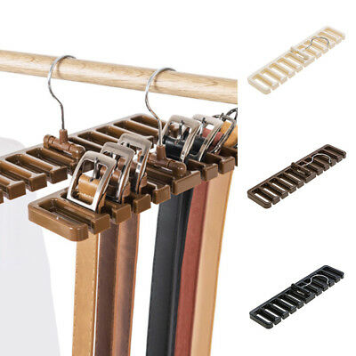 BU_ Men Plastic Belt Scarf Rack Organizer Neck Tie Hanger Holder Organizer Splen