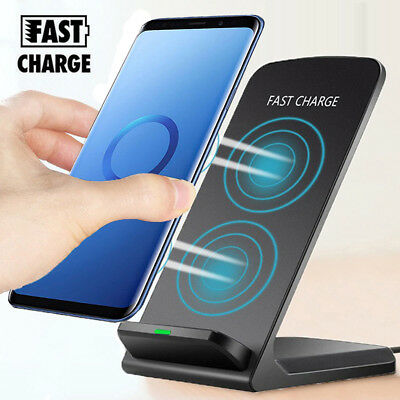 For Samsung Galaxy S10 S9 Plus+Note 8 Wireless Qi Fast Charger Stand Dock Pad