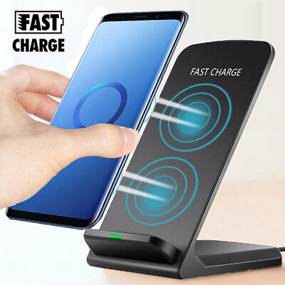 For Samsung Galaxy  S9 S8 Plus+Note 8 Wireless Qi Fast Charger Stand Dock Pad