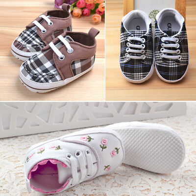 0-18M Casual Baby Boys Girls Cute Cartoon Print Laces Soft Sole Sneakers Shoes