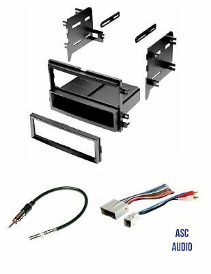 asc audio car stereo radio install dash kit, wire harness, and antenna  adapter