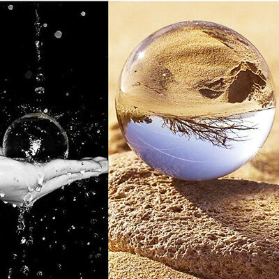 100mm Clear Glass Crystal Ball Healing Sphere Photography Props Gifts 30 50 80mm