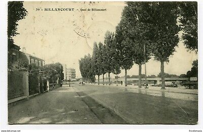 CPA - Carte postale- France -  Billancourt - Quai de Billancourt - 1913 ( CP3870