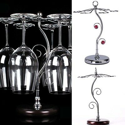 Stainless Steel Wine Glass S Cup Holder Shelf Stand Carrier Table Homeware Decor