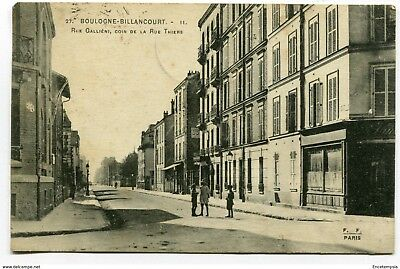 CPA - Carte postale-France-Billancourt -Rue Galliéni - 1919