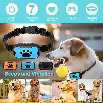 Anti Bark Collar Stop Dog Barking Sound & Vibration Adjustable S/M/L + 3 Shell