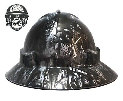 Custom hydrographic wide brim safety hard hat THE WALKING DEAD WIDE