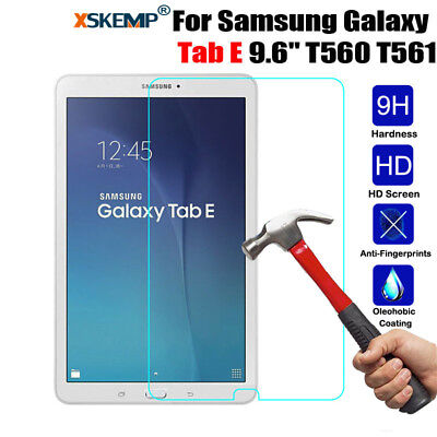"""100% Genuine Tempered Glass Screen Protector For Samsung Galaxy Tab E 9.6"""" 8.0''"""