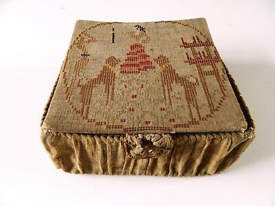 Beautiful Antique Vintage Victorian 18th Century ? Needle Work Sewing Box Case