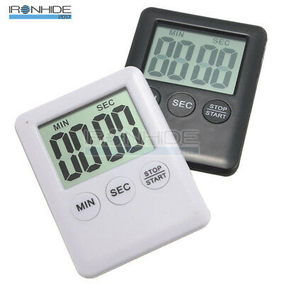 Magnetic Large LCD Digital Kitchen Cooking Timer Count Down Up Clock Loud Alarm