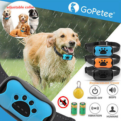 Anti Bark Collar Stop Dog Barking S/M/L Sound&Vibration w/Free LED Light 3 Shell