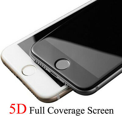 For iPhone 8 5D Curved Edge Tempered Glass Film Full Screen Protector CLEAR