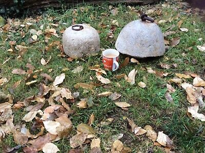 Two Very large Genuine old antique stone weights one 12.5 kg one 18kg.