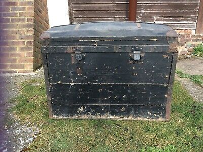 Large Tall Dome Top Trunk Blanket Box TRAVEL CHEST Domed Storage DELIVERY*