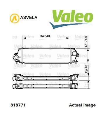 Intercooler, charger VALEO - 818771 For OPEL, RENAULT, VAUXHALL