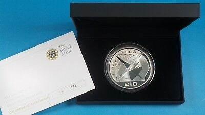 2008 Royal Mint Alderney £10 Coin Concorde 925 Silver Proof Coin 5 Oz