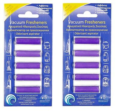 VACUUM AIR FRESHENER HOOVER DUST BAGS FILTERS CLEANER LAVENDER SCENTED 10pcs
