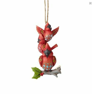 Jim Shore Stacked Cardinal Birds ornament 6001517 -New for 2018 and Mint!