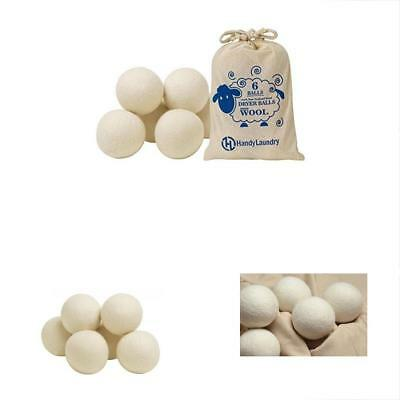 Fabric Softener Wool Dryer Balls Pack Natural Softener, Reusable, Reduce Saves