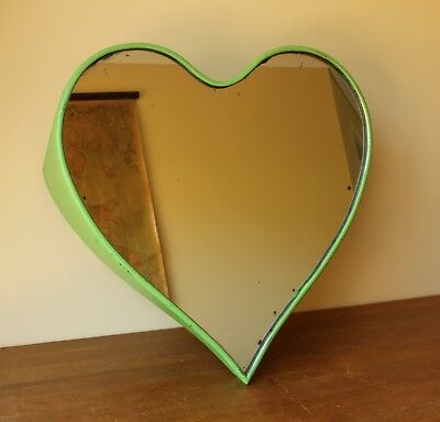 Vintage Heart Shaped Fairground Mirror. Trendy Wall Shop Bar Home Love Mirror