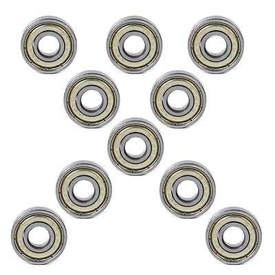608ZZ Shielded Deep Groove Ball Bearings Scooter Roller Wheel Skateboard 7x8x22