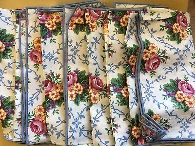 Longaberger Fabric Napkins ~ Mother's Day Pattern ~ New in Bag