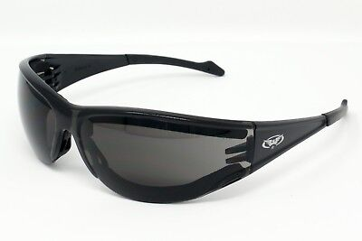New Anti-Fog Padded Wraparound Motorcycle Sunglasses/Biker Glasses + Free Pouch