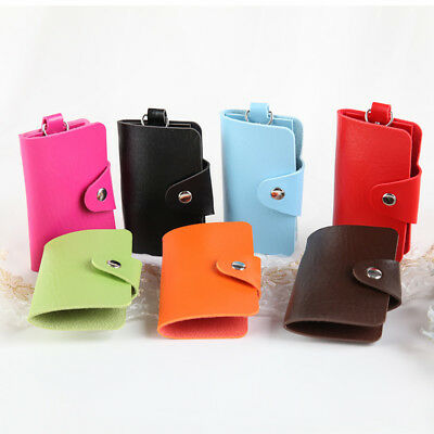 BU_ Men Women Button Car Key Case Holder Pouch Wallet Fashion Multifunctional Wi