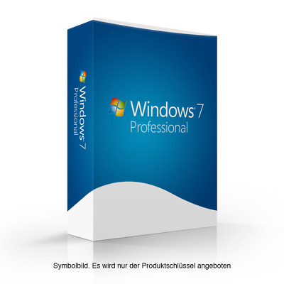 Microsoft Windows 7 Professional 32 bit 64-Bit OEM Online MS Win 7 Pro Neu