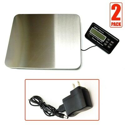 2 Pcs 300kg 660Lbs Digital Electronic Shipping Scale Stainless Steel Platform