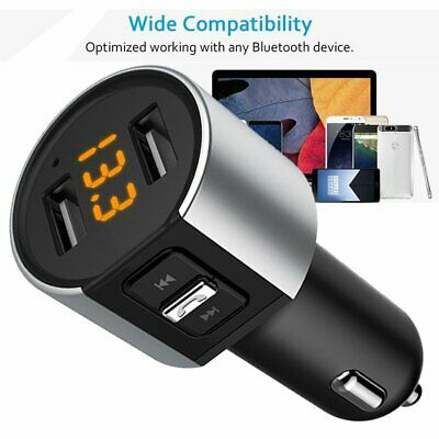 MPOW Wireless In-Car Bluetooth FM Transmitter MP3 Radio Adapter Car USB Charge