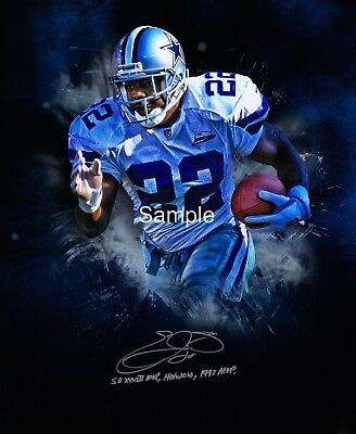 Dallas Cowboys Emmitt Smith Signed 8x10 Photo Reprint Autographed RP #2