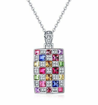 Stunning Crystals From Swarovski® Ladies Silver Necklace Pendant Womens Gift