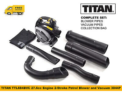 TITAN TTL684BVC 27.6cc Engine 2-Stroke Petrol Blower and Vacuum 3044P