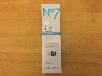 No 7 PROTECT AND PERFECT Intense Advanced Daily Hydration Hand & Nail Cream 75ml