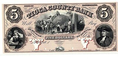 Tioga County Bank $5 Proof Note -American Bank Note Co.    *Uncirculated*