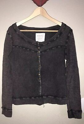 FP We The Free Size XS Burnout Washed Off Shoulder Oversized Sweater Free  People 00c196232