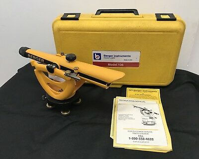 berger instruments model 136 transit level with hard case and manual rh picclick com Berger 135 Transit Level Berger Transit Level 140