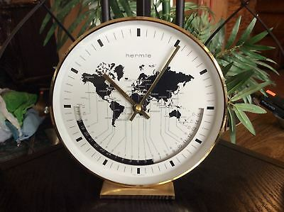 Hermle world map clock buffalo quartz table desk time brass casing hermle world map clock buffalo quartz table desk time brass casing 12395 121 gumiabroncs Image collections