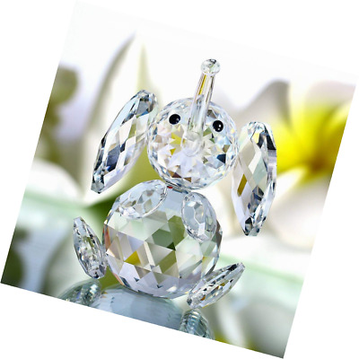 H&D Cut crystal elephant animal figurine collection glass ornament new