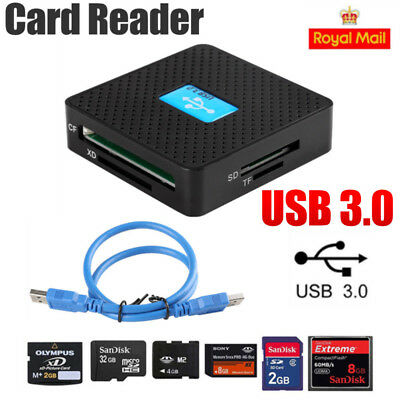 All in 1 USB3.0 Memory Card Reader Adapter Compact Flash Multi SD CF TF XD M2 MS
